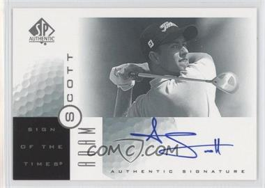 2001 SP Authentic Sign of the Times #AS - Adam Scott