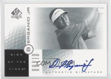 2001 SP Authentic Sign of the Times #DB - David Berganio Jr.