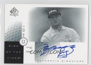 2001 SP Authentic Sign of the Times #KJ - K.J. Choi