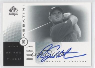 2001 SP Authentic Sign of the Times #RS - Rory Sabbatini
