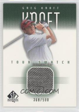 2001 SP Authentic Tour Swatch Green #GK-TS - Greg Kraft /500