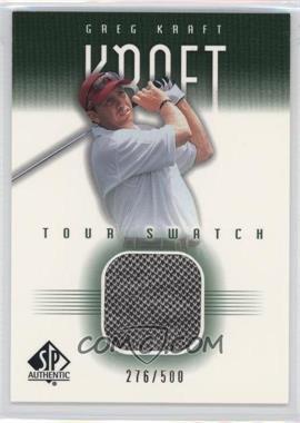 2001 SP Authentic Tour Swatch Green #GK-TS - Greg Kraft /500