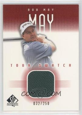 2001 SP Authentic Tour Swatch Red #BM-TS - Bob May /250