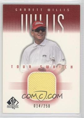 2001 SP Authentic Tour Swatch Red #GW-TS - Garrett Willis /250
