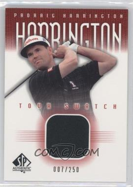 2001 SP Authentic Tour Swatch Red #PH-TS - Padraig Harrington /250