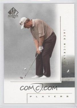 2001 SP Authentic #117 - Jack Nicklaus