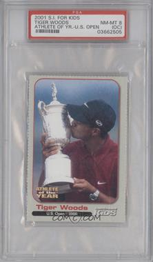 2001 Sports Illustrated for Kids Tiger Woods Athlete of the Year - [Base] #N/A - Tiger Woods [PSA8(OC)]