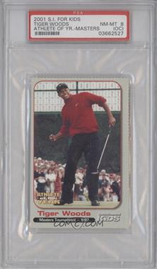 2001 Sports Illustrated for Kids Tiger Woods Athlete of the Year #N/A - Tiger Woods [PSA 8 (OC)]
