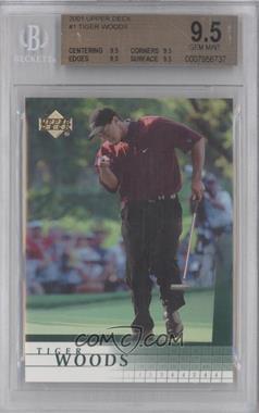 2001 Upper Deck - [Base] #1 - Tiger Woods [BGS9.5]