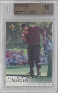 2001 Upper Deck - [Base] #1 - Tiger Woods [BGS10]