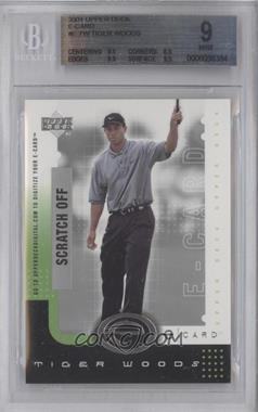 2001 Upper Deck E-card #E-TW - Tiger Woods [BGS 9]
