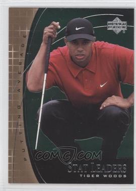2001 Upper Deck Stat Leaders #SL7 - Tiger Woods