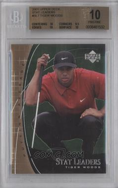2001 Upper Deck Stat Leaders #SL7 - Tiger Woods [BGS 10]