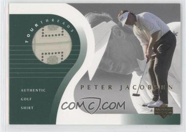 2001 Upper Deck Tour Threads #TT-PJ - Peter Jacobsen
