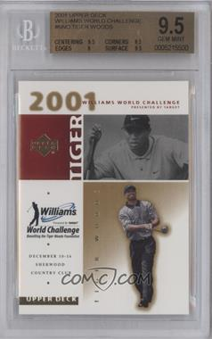 2001 Upper Deck Williams World Challenge #N/A - Tiger Woods [BGS 9.5]