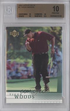 2001 Upper Deck #1 - Tiger Woods [BGS 10]