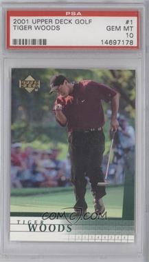 2001 Upper Deck #1 - Tiger Woods [PSA 10]