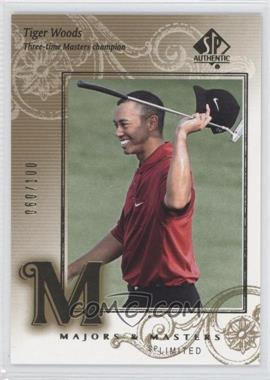 2002 SP Authentic Limited #136SPA - Tiger Woods /100
