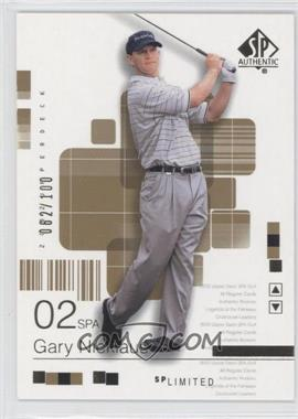 2002 SP Authentic Limited #40SPA - Gary Nicklaus /100
