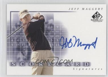 2002 SP Game Used Edition [???] #SS-MA - Jeff Maggert