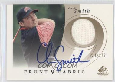 2002 SP Game Used Edition Front 9 Fabric Signatures [Autographed] #F9S-CS - Chris Smith /375