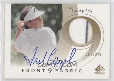 2002 SP Game Used Edition Front 9 Fabric Signatures #F9S-9 - Fred Couples /375