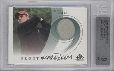 2002 SP Game Used Edition Front 9 Fabric #F9S-JR - Justin Rose [BGS 9]