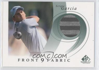 2002 SP Game Used Edition Front 9 Fabric #F9S-SG - Sergio Garcia