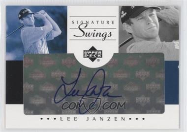 2002 SP Game Used Edition Signature Swings #SS-LJ - Lee Janzen