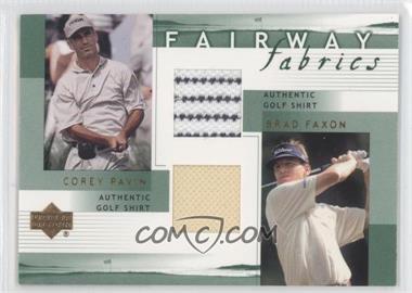 2002 Upper Deck - Fairway Fabrics Combo #PF-FFC - Corey Pavin, Brad Faxon