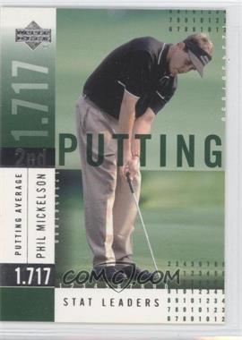 2002 Upper Deck - Stat Leaders #SL17 - Phil Mickelson