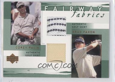 2002 Upper Deck Fairway Fabrics Combo #PF-FFC - Corey Pavin, Brad Faxon