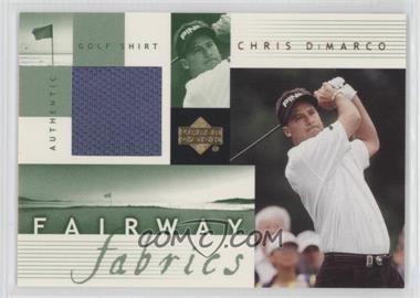 2002 Upper Deck Fairway Fabrics #CD-FF - Chris DiMarco