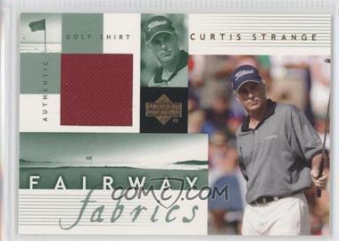 2002 Upper Deck Fairway Fabrics #CS-FF - Curtis Strange