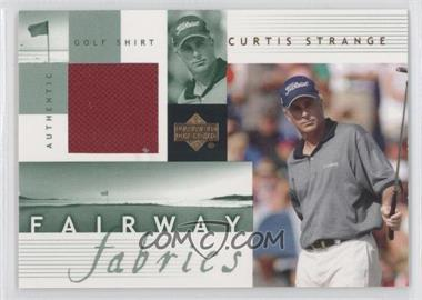 2002 Upper Deck Fairway Fabrics #CS-FF - Curtis Strange