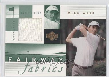 2002 Upper Deck Fairway Fabrics #MW-FF - Mike Weir