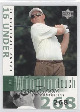 2002 Upper Deck The Winning Touch #WT5 - Frank Lickliter