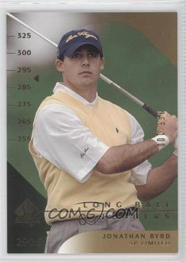 2003 SP Authentic - [Base] - Limited #54SPA - Jonathan Byrd /100