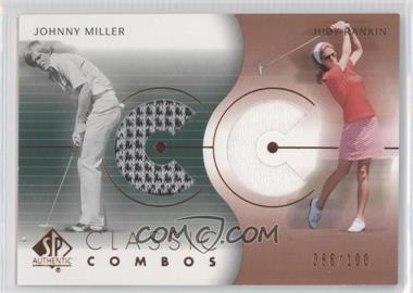2003 SP Authentic - Classic Combos Golf Shirts #CC-JM/JR - Johnny Miller, Judy Rankin /100