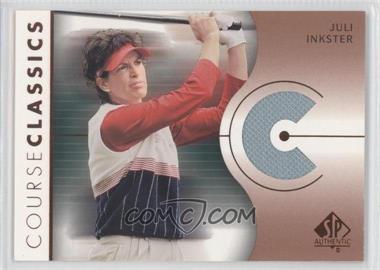 2003 SP Authentic - Course Classics Golf Shirts #CC-JI - Juli Inkster