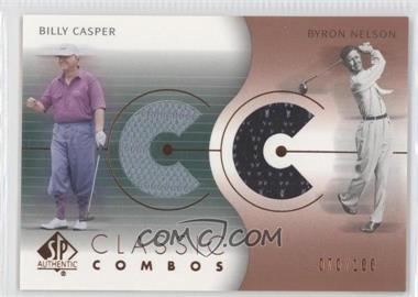 2003 SP Authentic Classic Combos Golf Shirts #CC-BC/BN - Billy Casper, Byron Nelson /100