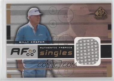 2003 SP Game Used Edition - Authentic Fabrics Singles #AF-BC - Billy Casper