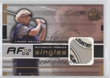 2003 SP Game Used Edition - Authentic Fabrics Singles #AF-DA - Laura Davies