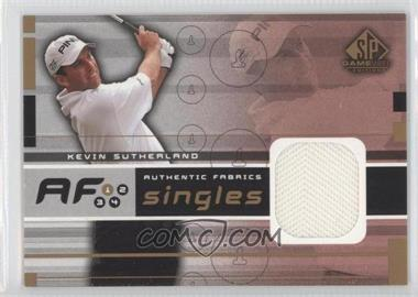 2003 SP Game Used Edition - Authentic Fabrics Singles #AF-KS - Kevin Sutherland