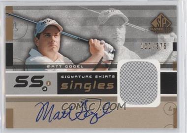 2003 SP Game Used Edition - Signature Shirts Singles #F9S-MG - Matt Gogel /375