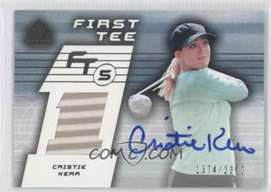 2003 SP Game Used Edition [???] #65 - Cristie Kerr /2300