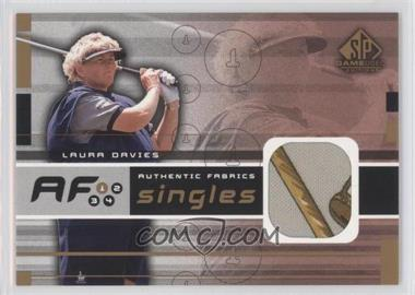 2003 SP Game Used Edition [???] #AF-DA - Laura Davies