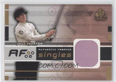 2003 SP Game Used Edition [???] #AF-JI - Juli Inkster