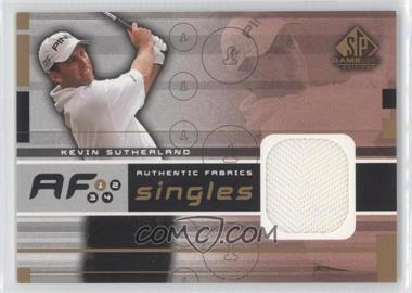 2003 SP Game Used Edition [???] #AF-KS - Kevin Sutherland