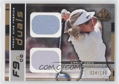 2003 SP Game Used Edition [???] #F9-CK - Carin Koch /100